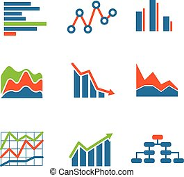 Different graphic business ratings and charts infographic...