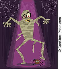 Mummy halloween character vector illustration