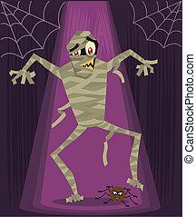 Mummy halloween character vector illustration
