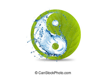 Yin and yang symbol green with water - An ecological yin and...
