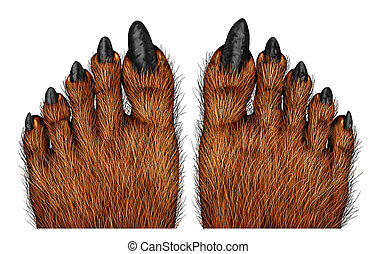 Werewolf Feet - Werewolf feet as a creepy creature for...