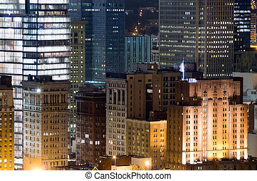 Pittsburg Cityscape - The nightime skyline of Pittsburg...