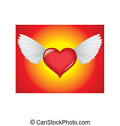 Winged heart - passion