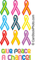Peace Ribbon Symbol - Give peace a chance