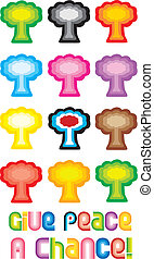 Peace Tree or Mushroom Cloud Symbol - Give peace a chance