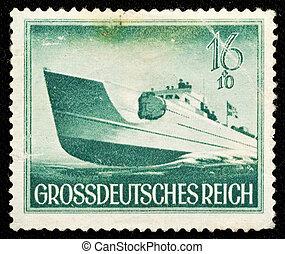 Vintage German Postage Stamp - Vintage German pre-war stamp...