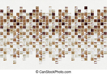 small square tiles of brown color, striated