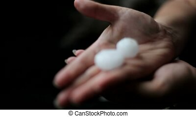 Large Hail - Hail larger than two centimeters is on the hand...