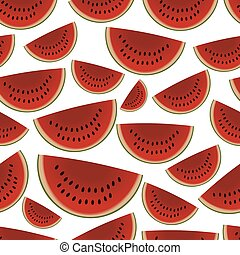 colorful sliced melon fruits seamless pattern eps10