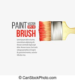 Paint Brushes isolated on white. Vector illustration