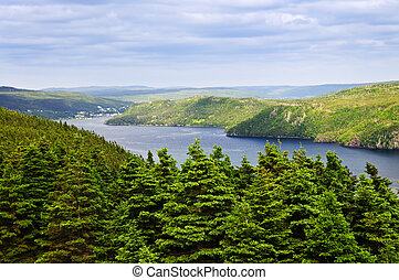 Placentia Bay in Newfoundland - Scenic view of Placentia bay...