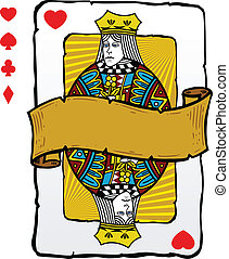 Playing card style queen illustration