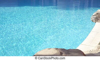 Swimming pool with beautiful decorative stones