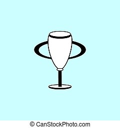Champion Cup black and white silhouette sign icon