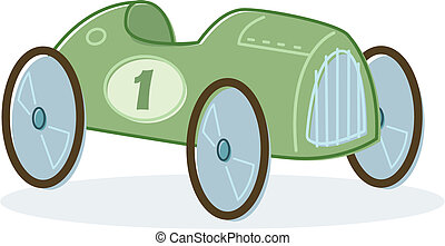 Retro style toy race car illustration Vector format