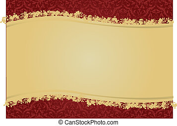 Decorative floral background vector design