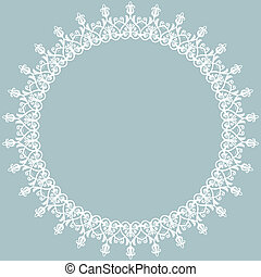 Damask Orient Pattern - Damask floral pattern with arabesque...