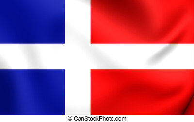 Flag of Saar Protectorate (1947-1956) - 3D Flag of the Saar...
