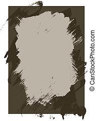ruige, inkt, verf, textuur, achtergrond
