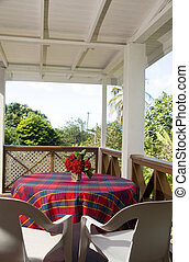 dining table patio budget guest house bequia - dining table...