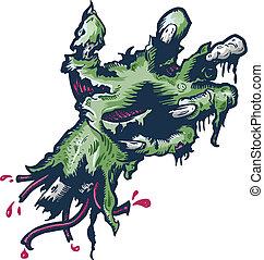 Severed Halloween style hand vector illustration
