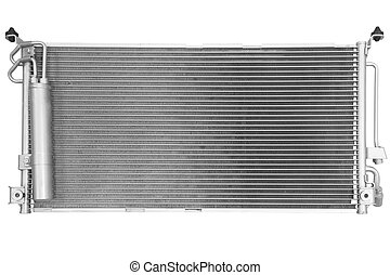radiator of conditioner on a white background