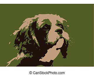 Cavalier King Charles Spaniel Vector Illustration