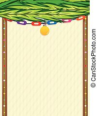 Sukkah Note - Decorative blank sign in a shape of sukkah...