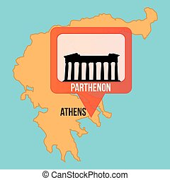 Maps and Locations - Isolated map of greece and the...