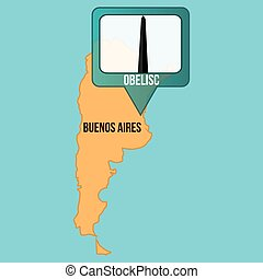 Maps and Locations - Isolated map of buenos aires with its...
