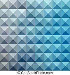 Bright Cerulean Blue Abstract Low Polygon Background - Low...
