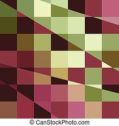 Deep Tuscan Red Purple and Green Abstract Low Polygon...