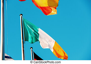 Italian National flag at European Parliament - Irleand...