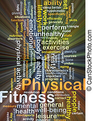 Physical fitness background concept glowing - Background...