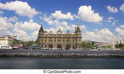 Haydarpasa in Spring - Haydarpasa Train Station in Istanbul,...