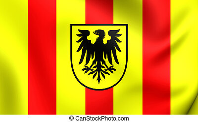 Flag of the Mechelen, Belgium. - 3D Flag of the Mechelen,...