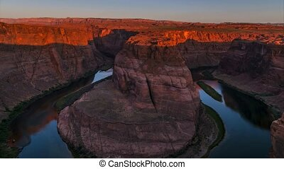 Horseshoe Bend Sunrise Time-lapse 4k UHD