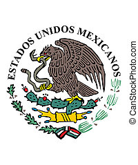 Mexican icon - National symbol flag colors