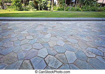 Background from paving stones