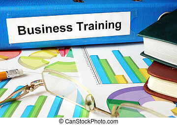 Folder with label Business Training