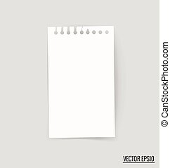 Collection of white note papers, ready for your message...