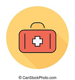 First aid Flat icon for mobile and web applications Vector...