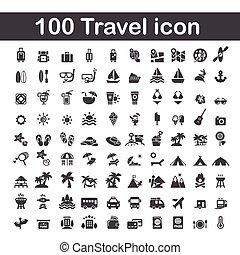 100 travel icon