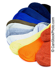 Colored Socks - Arrangement of Colored Cotton Socks isolated...