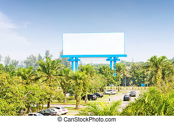 billboard stand by the road