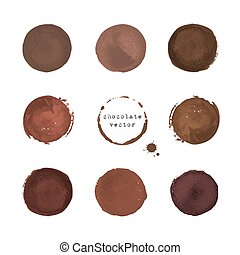 Chocolate round stains and blots