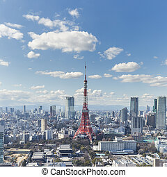 TOKYO, JAPAN - 19 FEBRUARY 2015 - The Tokyo tower in the...