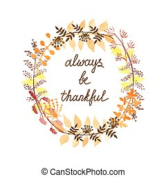 Thankful greeting card - Autumn greeting card with...