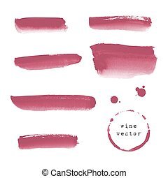 Wine banners and blots - Collection of wine banners and...