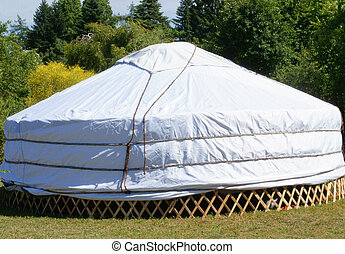 Yurt - The traditional tents of nomads, a yurt.